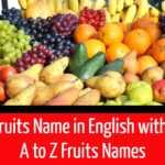 All the Fruits Name in English with picture