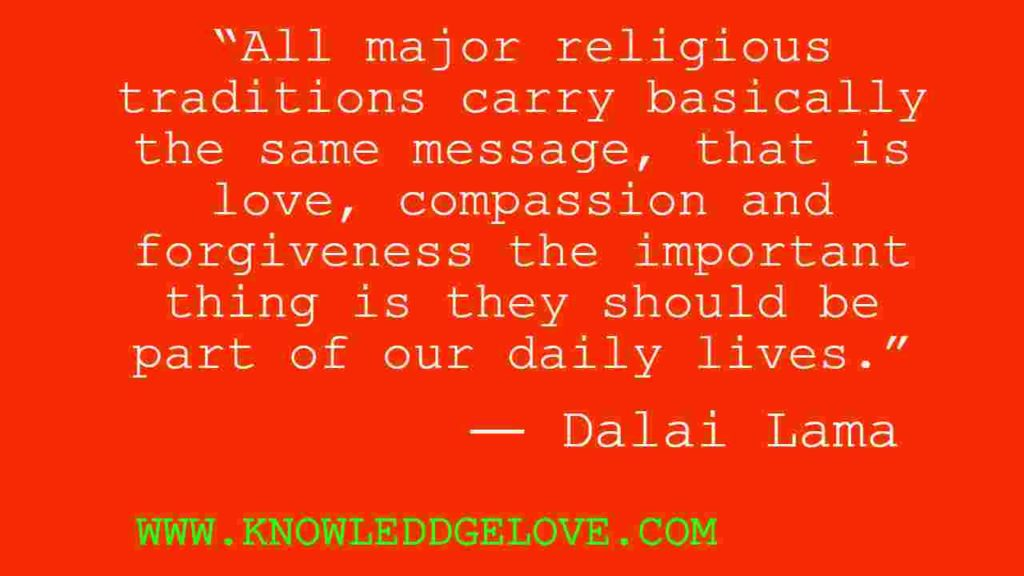 Quotes on Love and Religion