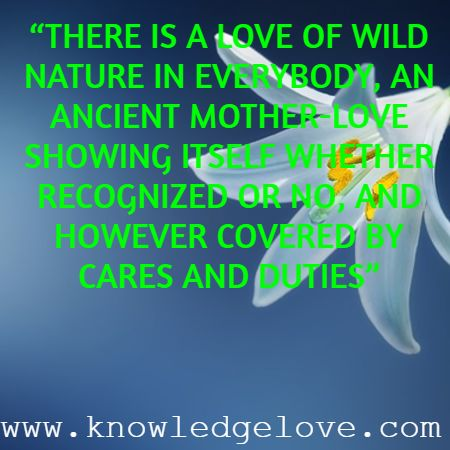 Inspirational Quotes on Nature Love