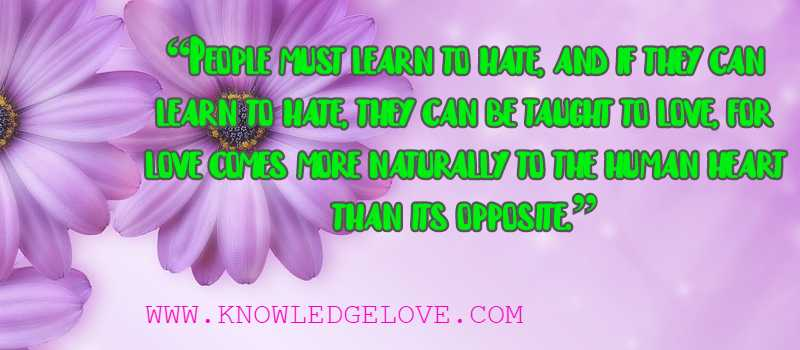 Love Quotes from Nelson Mandela