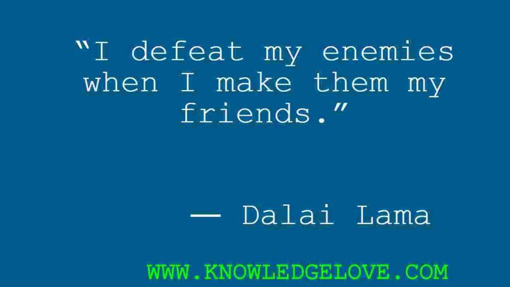 Dalai Lama Quotes on friendship