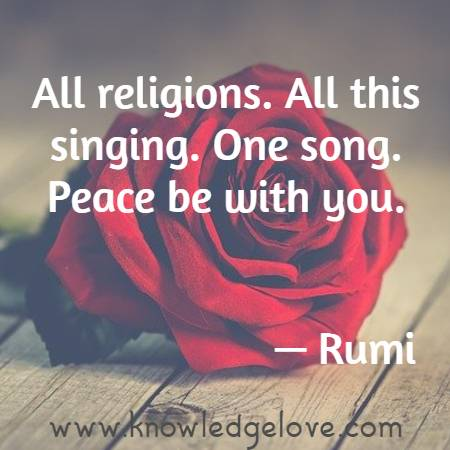 All religions. All this singing. One song. Peace be with you.
