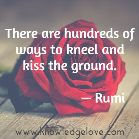 There are hundreds of ways to kneel and kiss the ground.