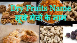 Dry Fruits Name in Hindi